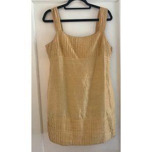 Yoana Baraschi gold mini shift dress.
